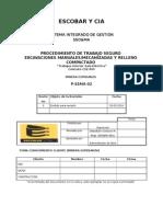 PTS Excavaciones Manuales Mecanizadas y Relleno Compactado