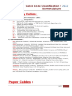 Cable Nomenclature