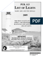 Pub. 113 List of Lights West Coasts of Europe and Africa, Mediterranean Sea, Black Sea 2009