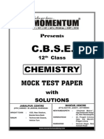 CBSE Chemistry 12th Mock Test Paper Sol