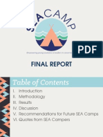 SEA Camp Final Report
