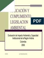 Aplicación y Cumplimiento Legislacion Ambiental