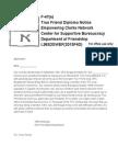 F-47(e), A Notice for a True Friend Diploma