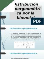 Presentacion Distribucion Hipergeometrica Por La Binomial