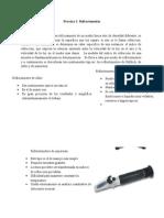 Práctica 1.Refractometría