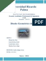 Informe Final Diseño Geométrico de Vias CIVIL 3D