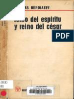 Reino del Espiritu y Reino del Cesar - Nikolay Berdiaev [Scan] (Madrid, 1964[3])