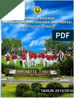 Buku Pedoman Pendidikan Universitas Jember TA 2015 2016