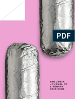 Columbia Journal of Literary Criticism 2015 (Volume XIII)