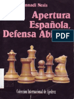 Apertura Española, Defensa Abierta (Gennadi Nesis, Ediciones Escuve, 1992)
