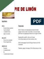 Pie de Limón receta paso a paso muy fácil y rica