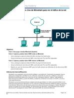 Uso de Wireshark para ver el tráfico de la red.4 Lab - Using Wireshark to View Network Traffic