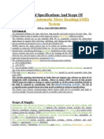 Technical Specifications and Scope of Work of AMR