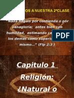 Clase de Religión Natural o Sobrenatural