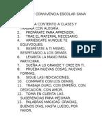 NORMAS DE CONVIVENCIA ESCOLAR SANA Y PACÍFICA 3° E