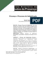 Presença e Processo de Subjetivação - Beatriz Angela Vieira Cabral