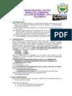 Bases Regional Centro Absoluto y Femenino Ultimo Setiembre 2013 - Pilcomayo