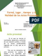Presentacion de Actos Procesales