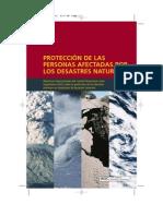 Proteccion de Las Personas Afectadas Por Desastres Naturales