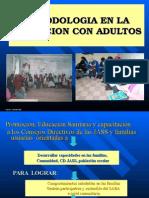 Metodologia en La Educacion Con Adultos.