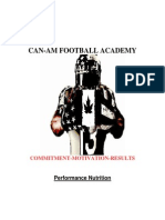 CAN-AM FOOTBALL ACADEMY-Performance Nutrition Manual