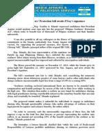 sept25.2015 bFilipino Seafarers' Protection bill awaits PNoy's signature