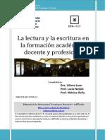 La Lectura y La Escritura en La Formación Académica Docente y Profesional