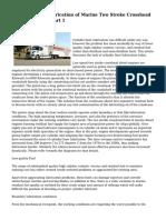 Cylinder Liner Lubrication of Marine Two Stroke Crosshead Diesel Engines - Part 1