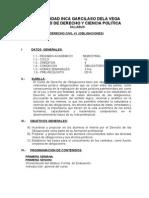 Derecho Civil Vi (Obligaciones) silabus