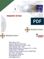 Modelado de Adaptador de Fase_ETAP 12