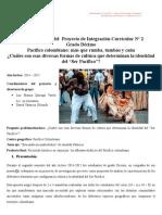 Proyecto de Integración curricular. Pacífico colombiano