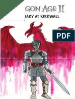Dragon Age 2 - A Diary at Kirkwall