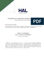 Geografia de La Migracion Brasilena en Paraguay Souchaud 2007