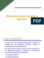 Potencias Activa, Reactiva y Aparente