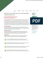 International Concrete Sustainability Conference