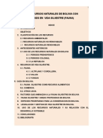 LOS RECURSOS NATURALES DE BOLIVIA CON  ÉNFASIS EN  VIDA SILVESTRE (FAUNA)