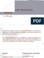 Partes de La Oracion - Piccardo Power Point (1)