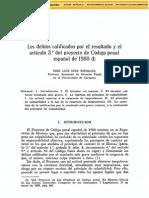 Los Delitos Calificados Por El ResultadoYElArticulo3Del