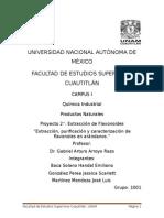 Extracción Purificación y Caracterización de Flavonoides