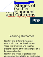 Stages Teacher Development..