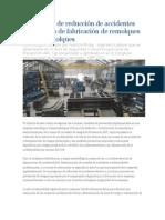Estrategias de Reducción de Accidentes en Empresa de Fabricación de Remolques y Semirremolques