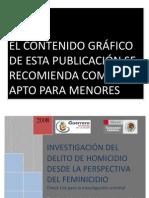Investigacion Feminicidio