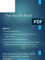 the secret river week three genre structure style and dialogue