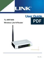 TL-WR740N Manual