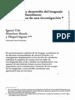 Adquisicion y Desarrollo Del Lenguaje en Bilingues Familiares