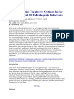Antimicrobial Treatment Options in the Management of Odontogenic Infections