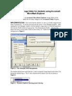 Creating Accumark Storage Folder