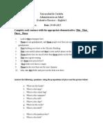 Evaluative Exercise (1)
