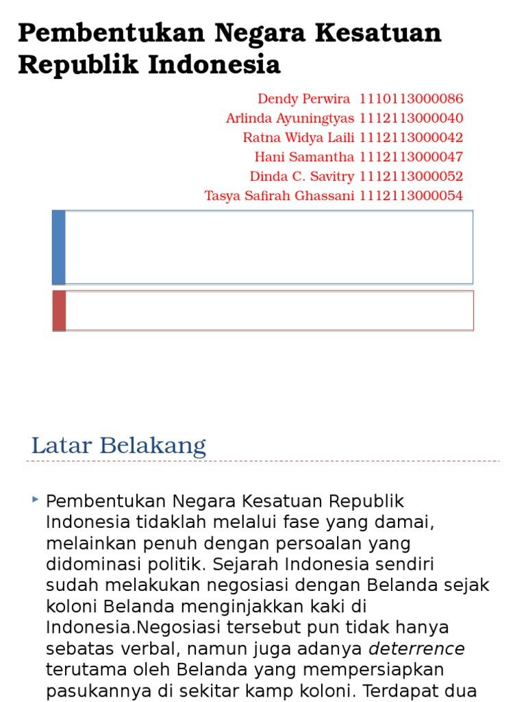 Pembentukan Negara Kesatuan Republik Indonesia