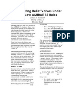 Calculating Relief Valves Under the New ASHRAE